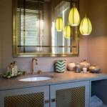Designküche mit Design Pendelleuchten