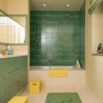 Interior Design Bad mit grünen Fliessen