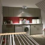 Design Tapeten in Waschküche
