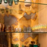 Designregal aus Glas