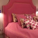 Pinkes Designerbett