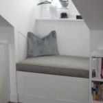 Sitzbank in weiß