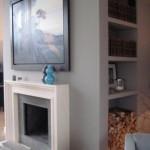 Designer Wohnzimmer mit Kamin