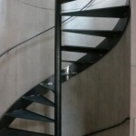 schwarze Wendeltreppe Concrete House Interior Design Munich