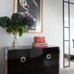 Design Sideboard in schwarz