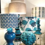 Blue Lamps at Showroom Yasemin Loher in Munich